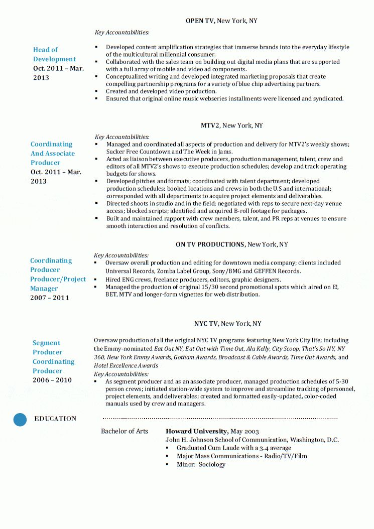Traffic Production Manager Resume] Traffic Production ...