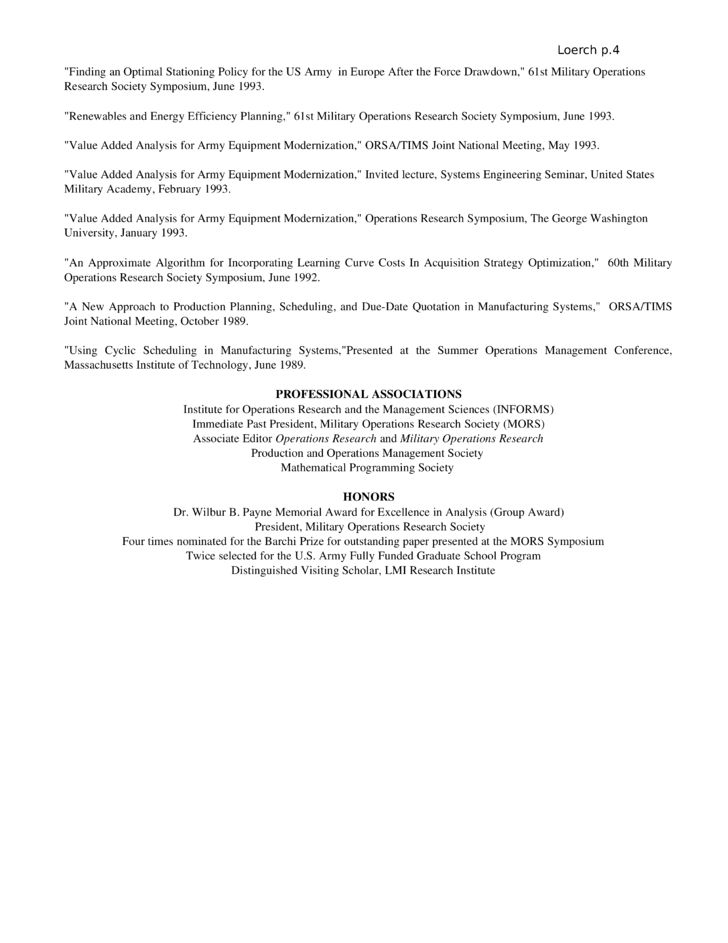 84 Operations Research Analyst Resume