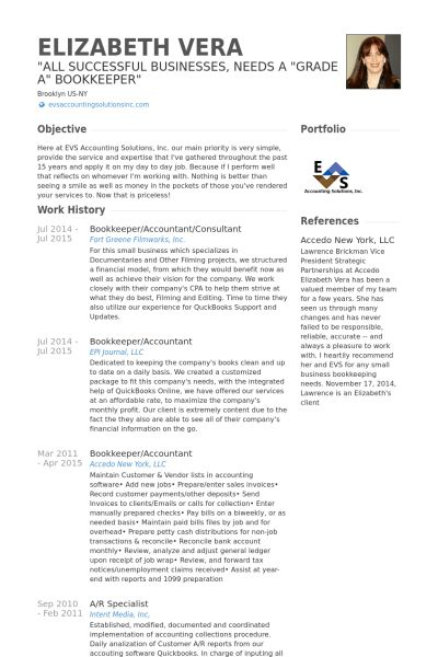 Bookkeeper Resume Example Unforgettable Bookkeeper Resume