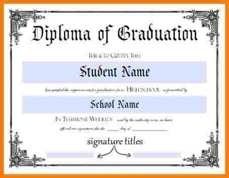 10+ High School Diploma Template Word | Sample Of Invoice  Graduation Certificate Template Word