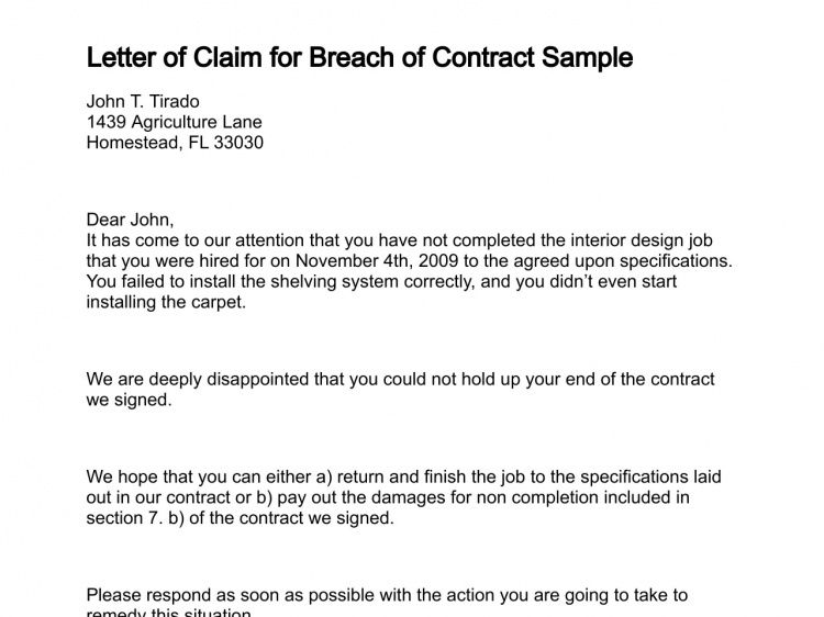 Claim Template Letter Letter Of Claim, Free Complaint Letter - claims letter