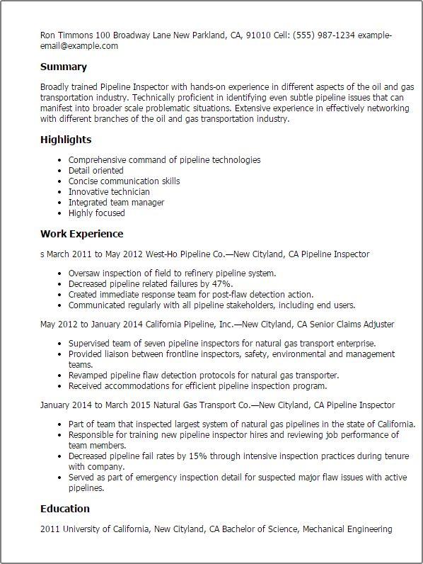 Coating Inspector Cover Letter | Cvresume.unicloud.pl