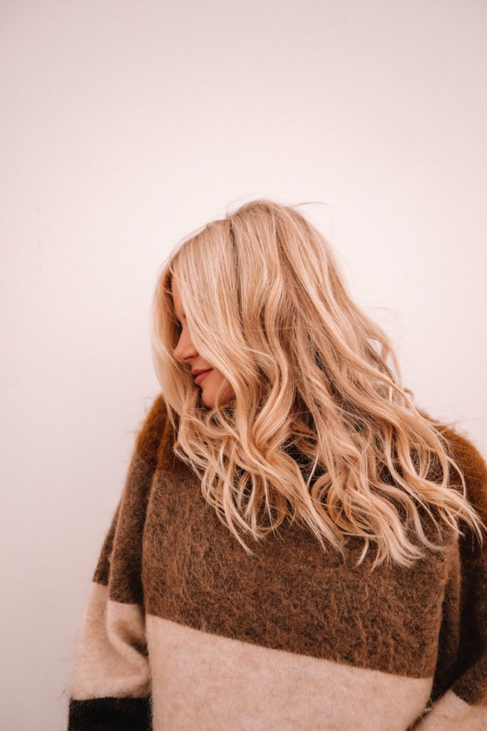 Acne sweater and BFB HAIR | extensions | Barefoot Blonde | Amber Filllerup Clark.