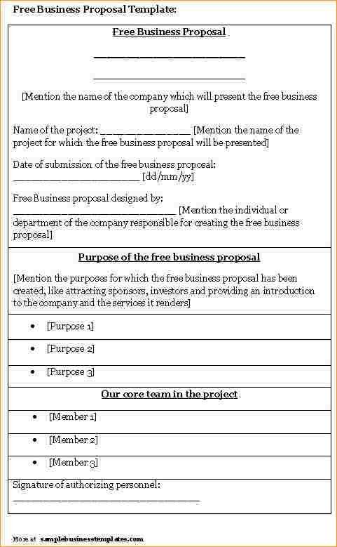 Free Examples Of Business Proposals Free Business Proposal - business proposal letter sample