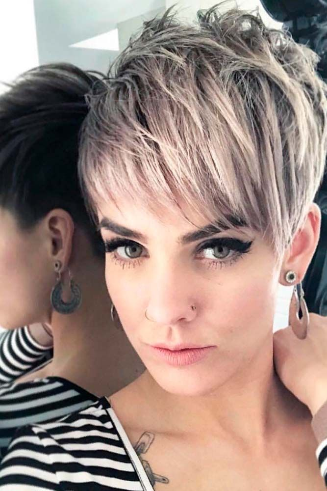 Trendy Pixie Hairstyle #blondehair #shorthairstyles ★ A pixie cut will work great for a woman who has an extremely active lifestyle and who would like people to take her seriously. This cut is universally flattering and can be sported in a variety of ways. If you are tempted to try this bossy cut, see our photo gallery to pick one. #glaminati #lifestyle #pixiecut