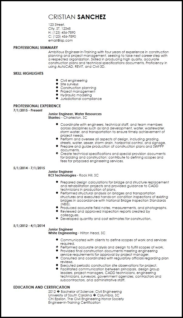 civil engineering technician resume | node2004-resume-template ...