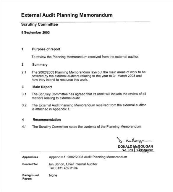 External Audit Report Template Sample External Audit Report 8 - audit plan template
