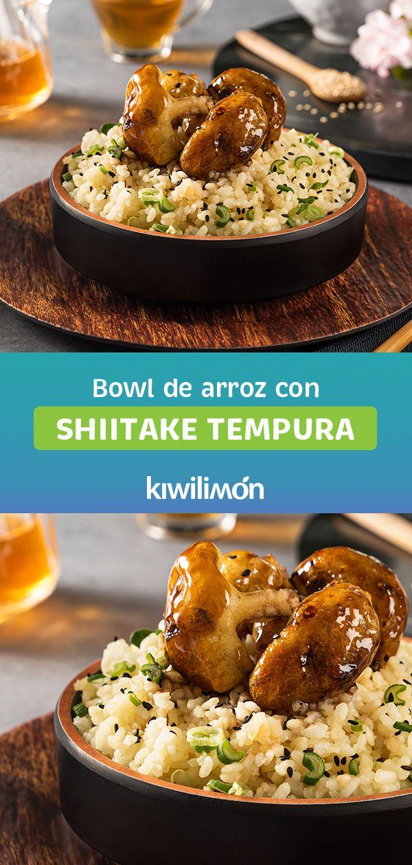 Bowl de Arroz con Shiitake Tempura