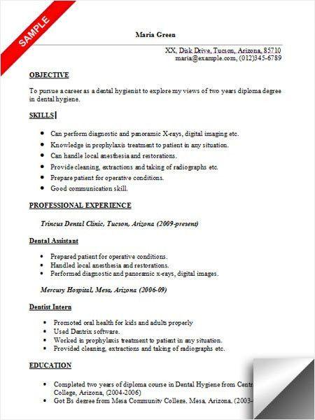 Dental Resume Template Dental Assistant Resume Sample Tips Resume - dental resume