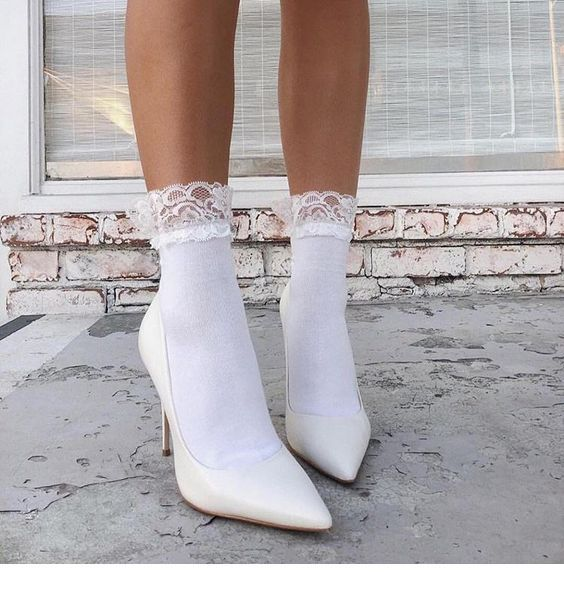 White socks and white shoes