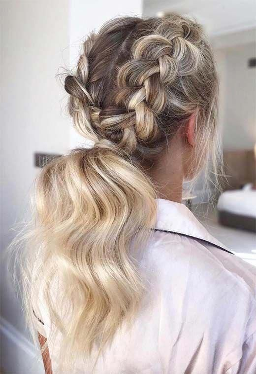 Long Hair Braids: Braided Hairstyles for Long Hair: Double Dutch Braid Ponytail #longhair #braids #braidedhair #hair #hairstyles #braidedhairstyles