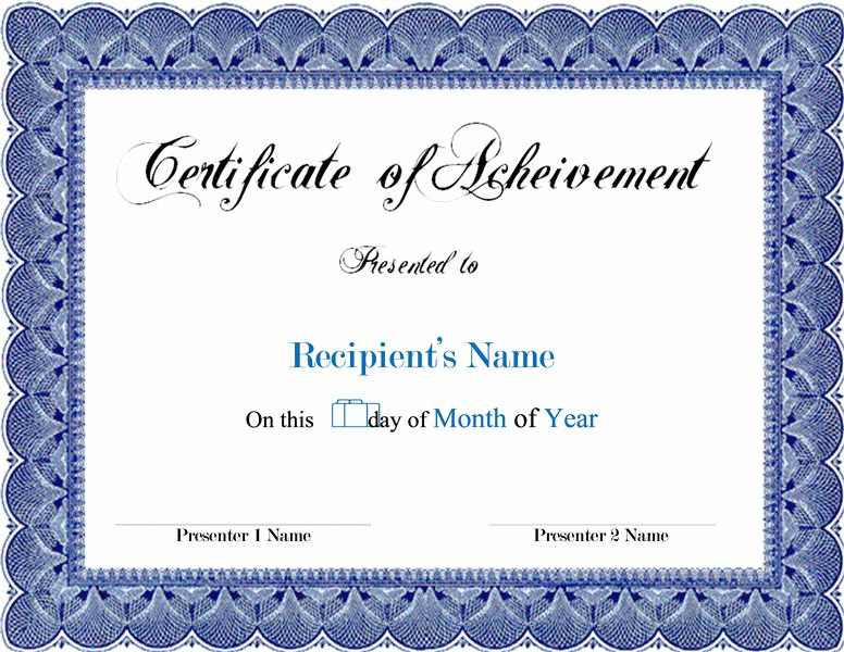 Free Award Certificate Template Word   Template  Award Certificate Template Word