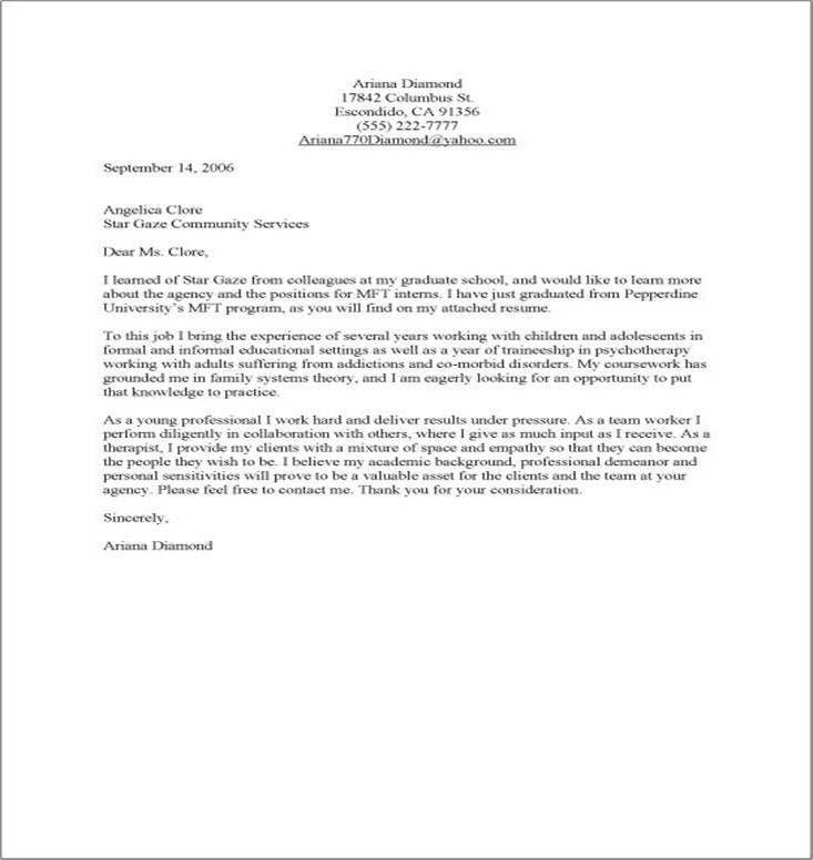 easy cover letter sample