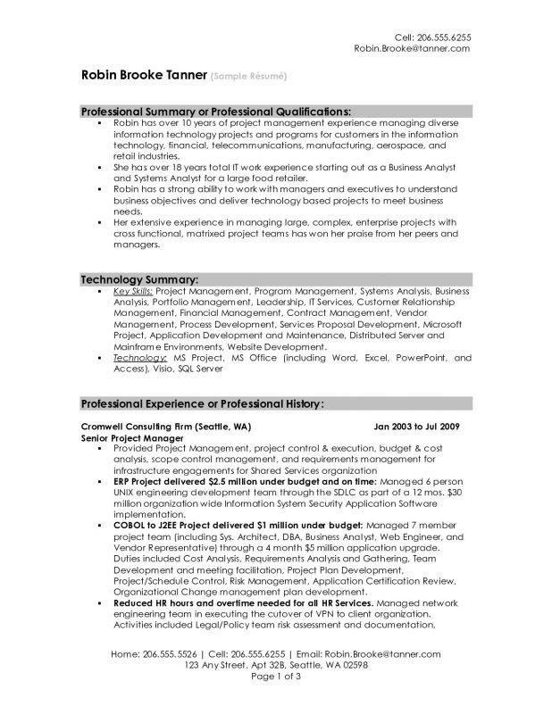 Professional Summary Resume Sample Professional Summary Resume - professional summary for cv