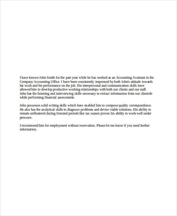 Sample Recommendation Letter From Employer For Job Sample - mba recommendation letter