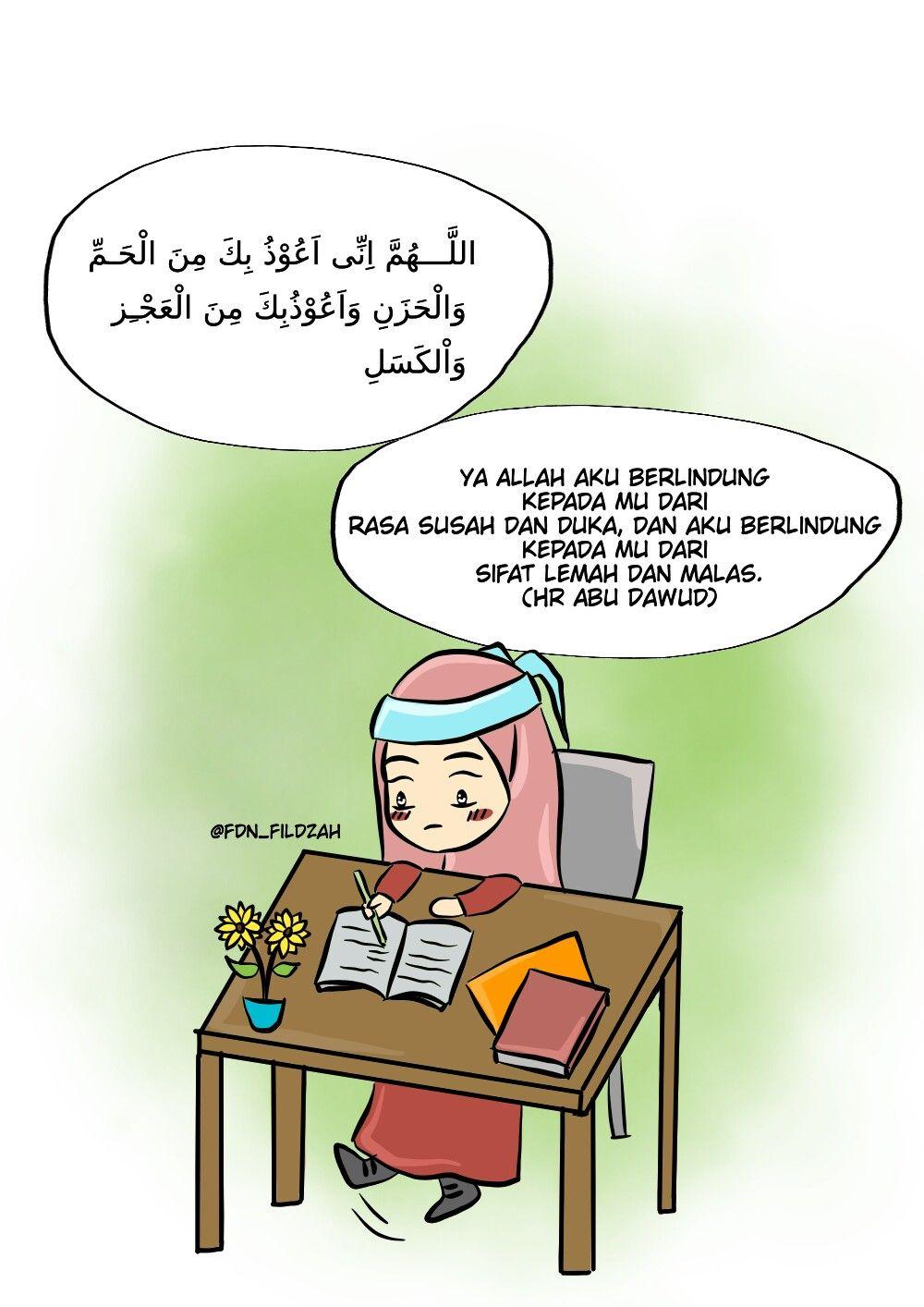 Kerja Keras Muslimah Tangguh Dengan Gambar Kartun Motivasi Kerja Keras