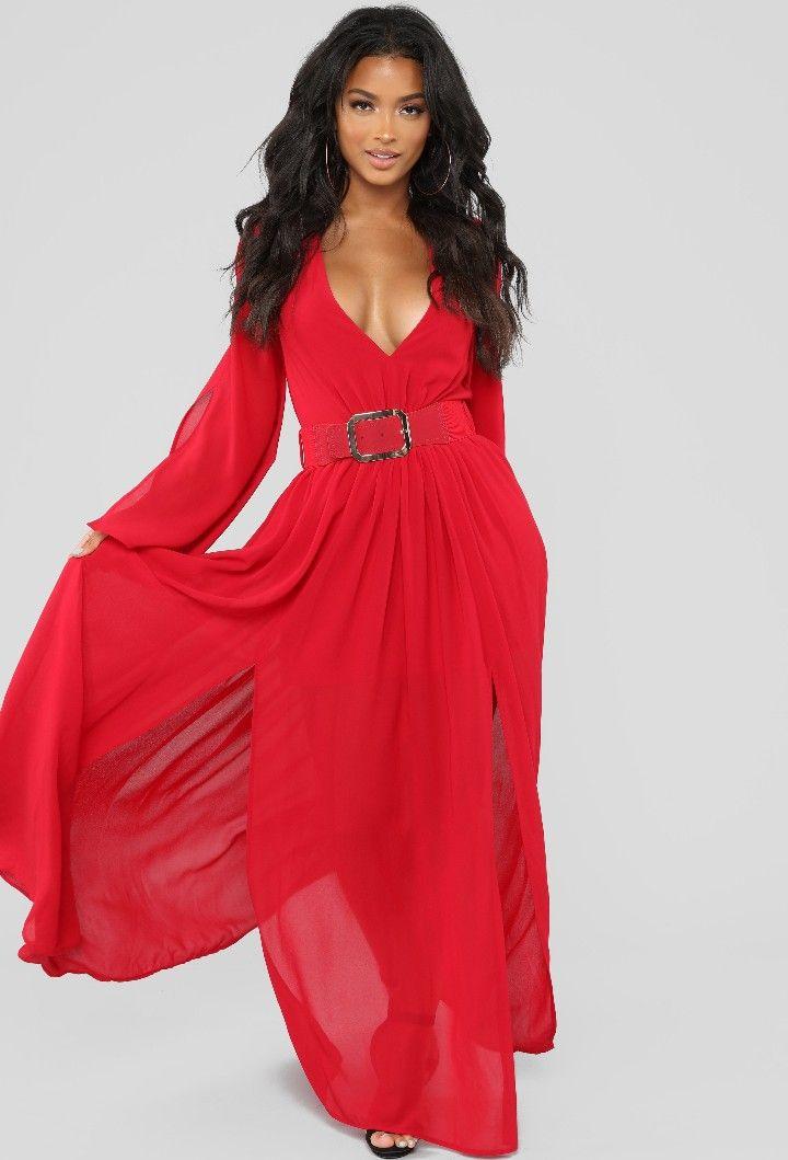 Fashion Nova (With images) Red dress, Maxi dress, Dresses