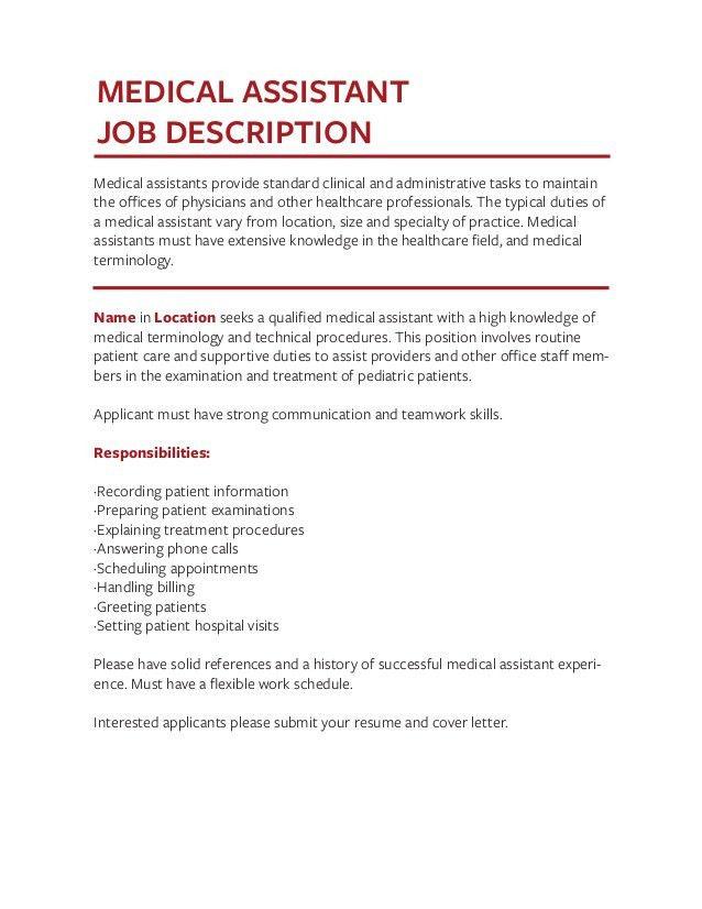 medical assistant tasks - Forest.jovenesambientecas.co