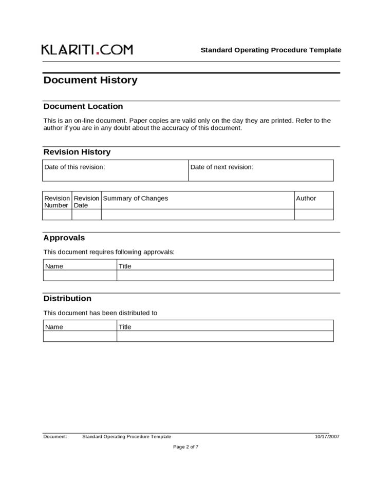 free standard operating procedure template word | node2004-resume ...