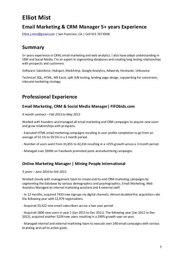 social media manager cover letter env1198748resumecloud - Email Marketing Cover Letter