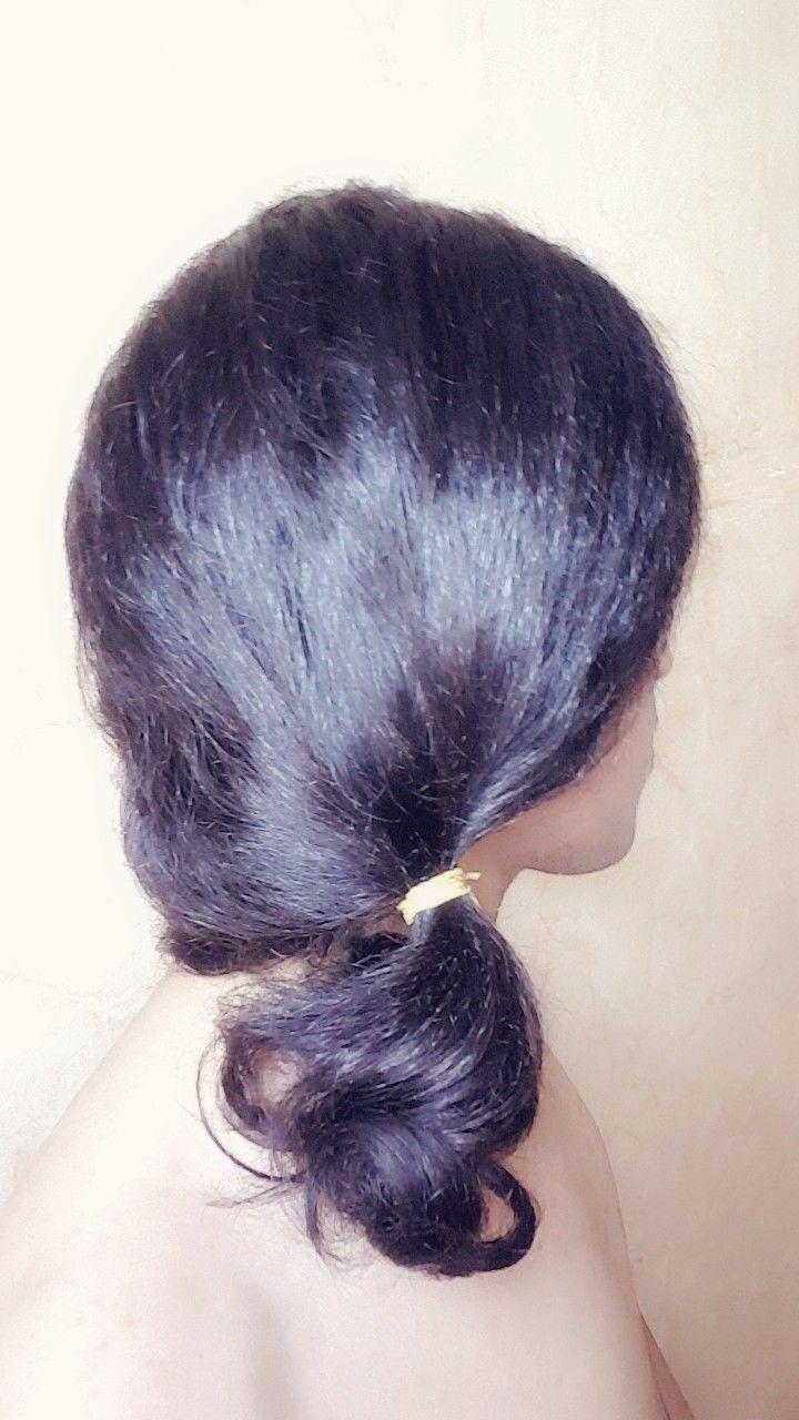 Hair Hairstyle Style Tie تسريحة الشعر المربوط Low Ponytail Hairstyle Ponytail تسريحة شعر ذيل الحصان المنخفضة