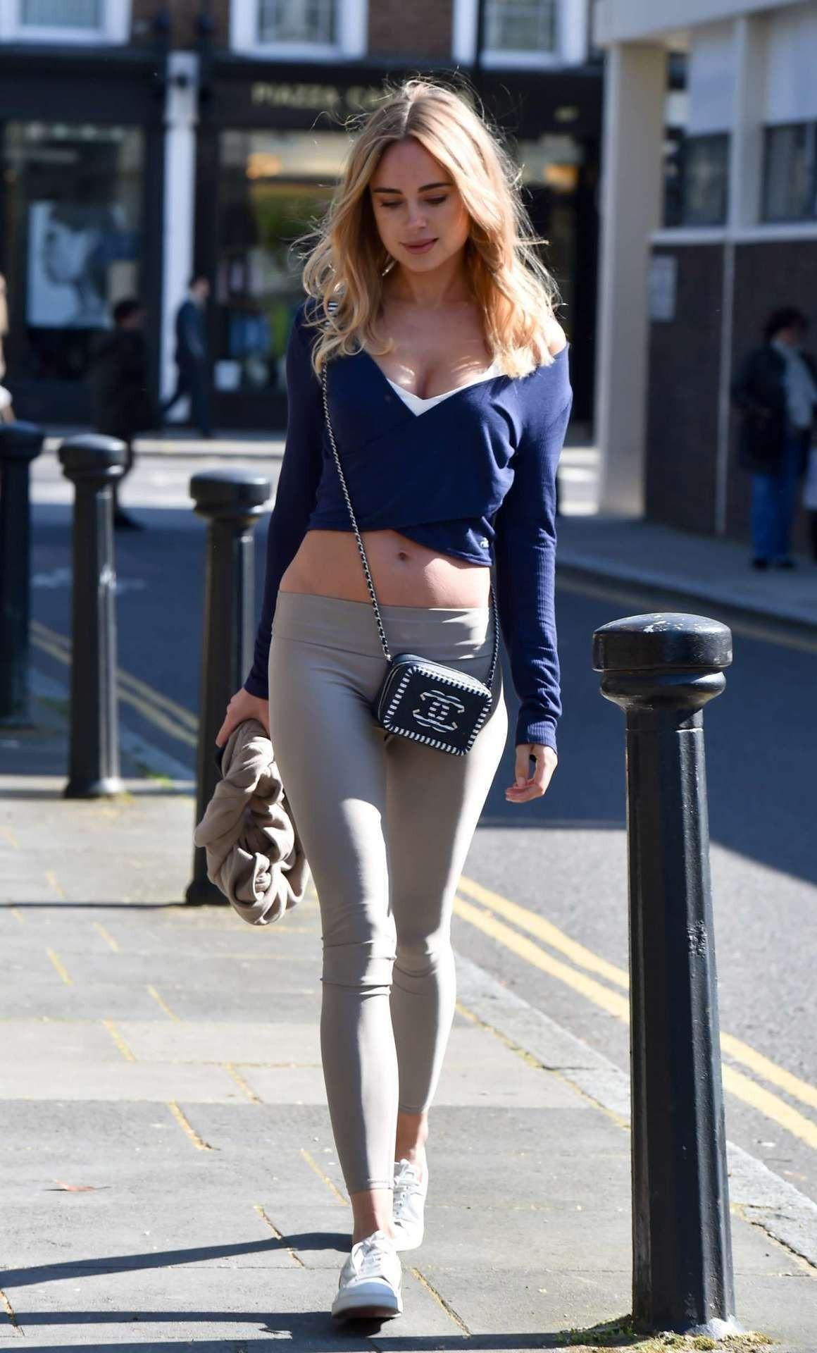 Kimberley Garner – Booty in Tights at The Ivy Chelsea Garden in London