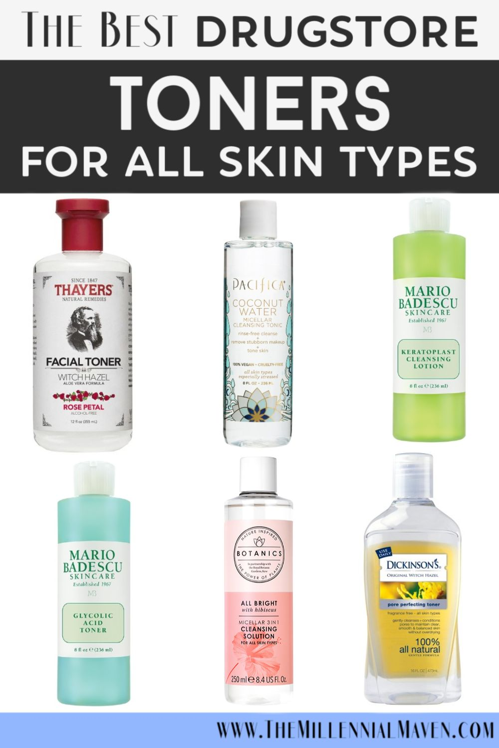 *UPDATED 2019!* The Best Drugstore Toners For All Skin Types! | Affordable Drugstore Skincare | The Millennial Maven