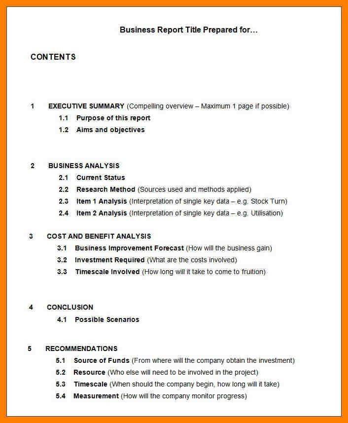 Short Business Report Format 10 Sample Business Report Free - sample company report
