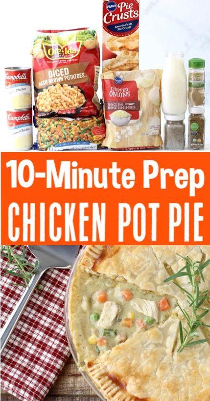 Chicken Pot Pie Recipe - Easy Simple Dinner with Pillsbury Crusts!