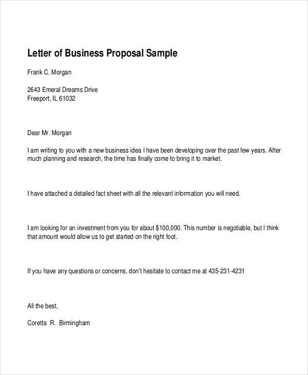 Business Proposal Sample Template Business Proposal Template 31 - formal proposal letter