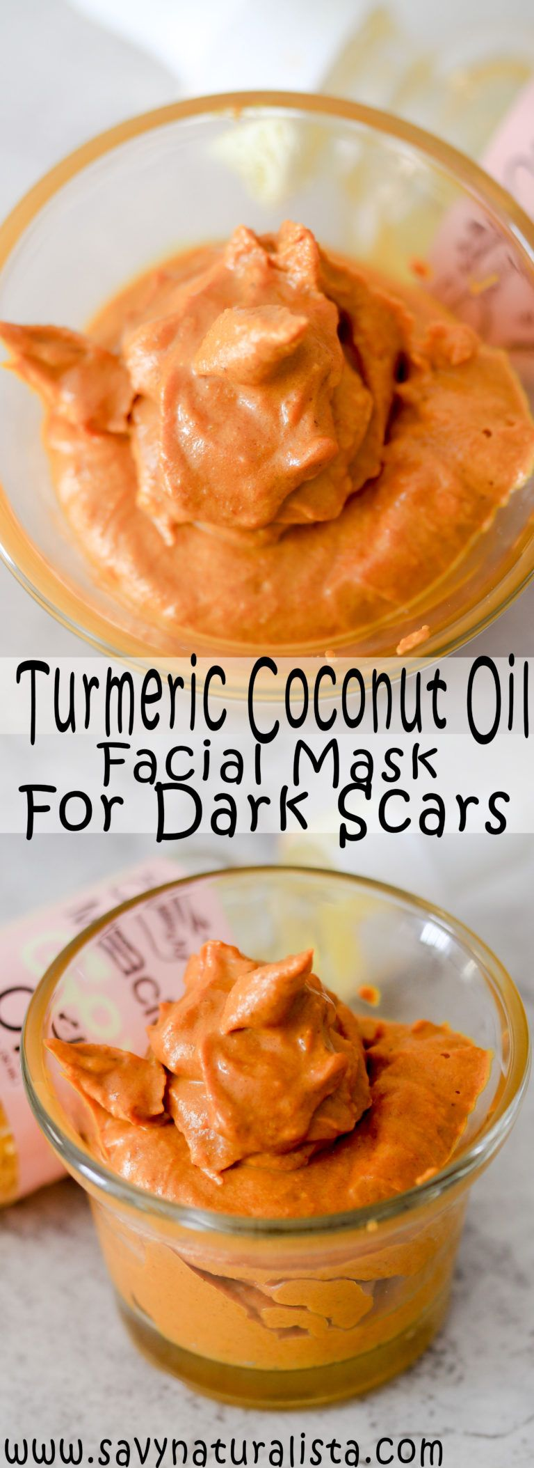 This turmeric coconut oil mask is known for getting rid of dark scares well after one week let's see if we can get results! #turmericpowder #coconutoil #skincare #facialmask