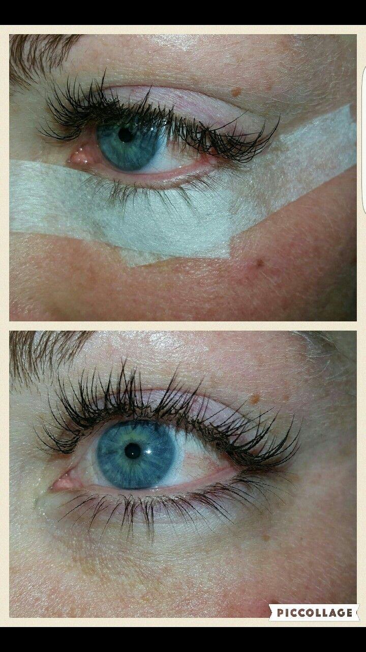 Lower eyelash tint on a natural blonde. I also did eyelash ...