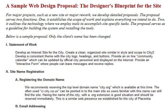 Simple Website Design Proposal Template Useful Web Design - website proposal template