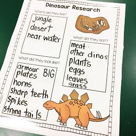 First Grade Blog - Firstieland: Dinosaur Activities For Kids