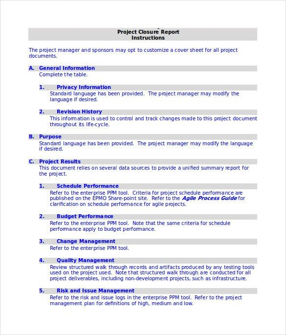 project closure report template efficiencyexperts - management review template