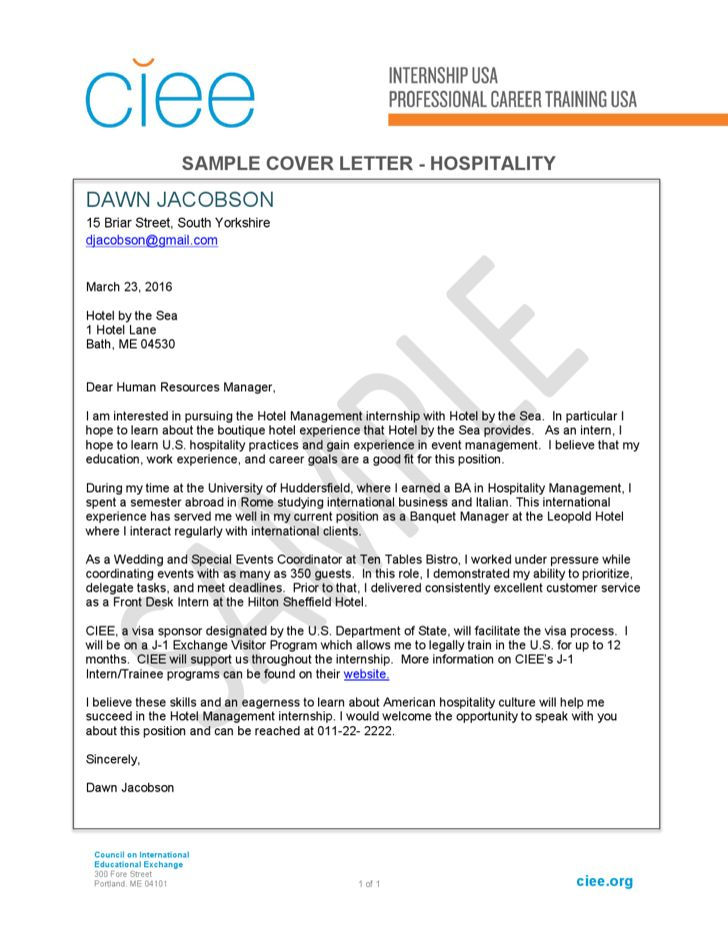Business Management Trainee Cover Letter Envresume - Hotel management trainee cover letter