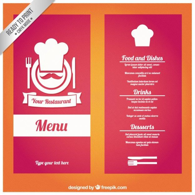 Restaurants Menu Templates Free Restaurant Menu Template Vector - free restaurant menu template word