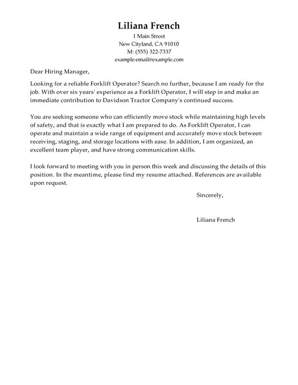 Computer Operator Cover Letter] Operator Cover Letter Sample ...