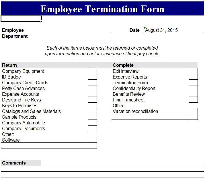 Magnificent Employee Exit Form Template Pictures Inspiration