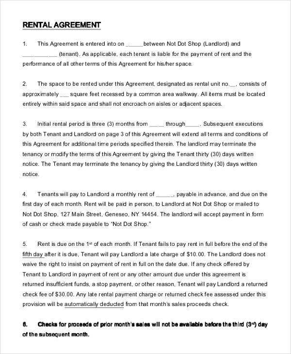 Simple Agreement Sample 15 Basic Rental Agreement Templates Free - basic agreement