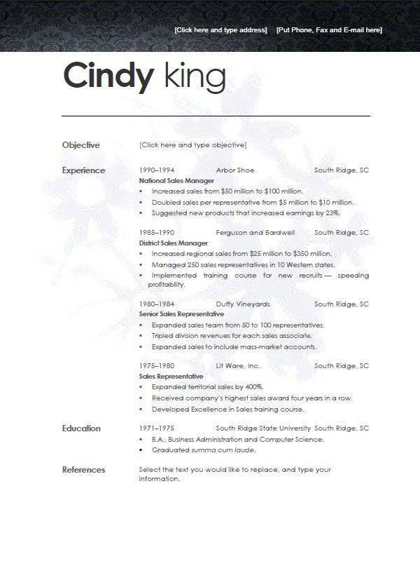 clean resume format simple resume templates 75 examples free modern resume samples