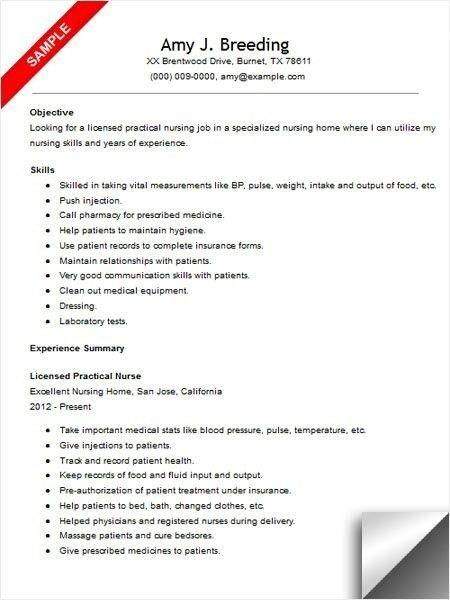 resume for rn