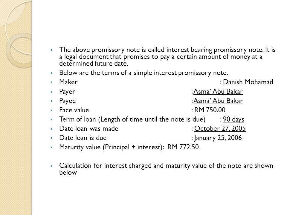 basic promissory note
