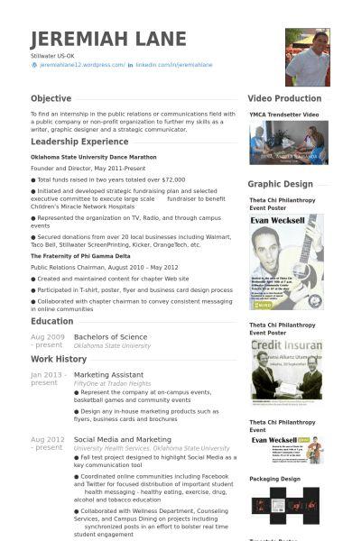 Example Of Marketing Resume Marketing Resume Sample Resume Genius - marketing assistant resume