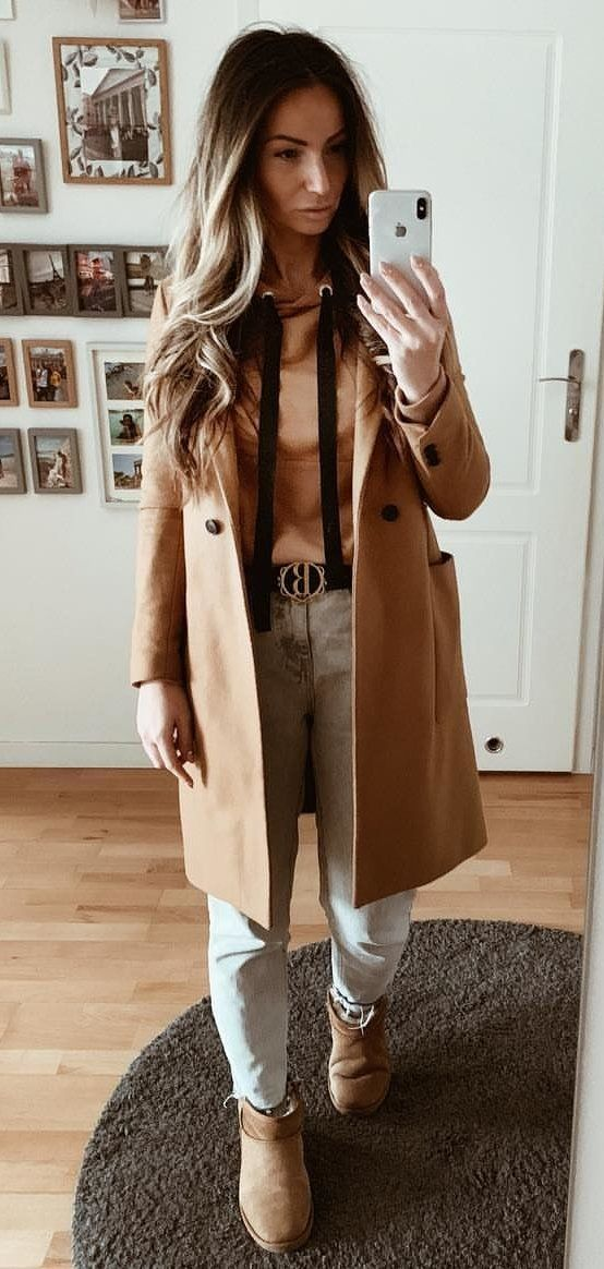 beige overcoat #spring #outfits