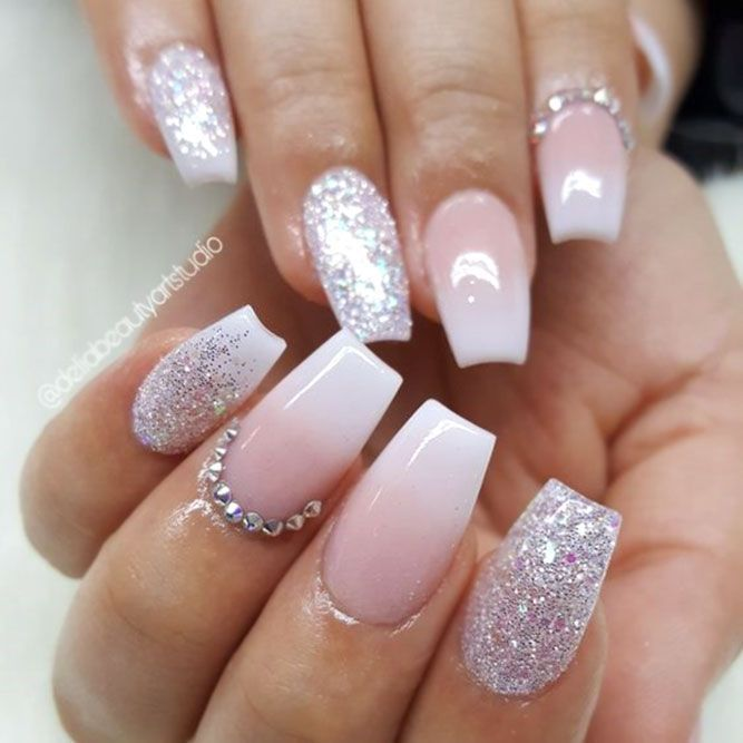 Ombre French With Glitter Accent #glitternails #ombrenails ❤️ Short coffin n… – #accent #Coffin #French #Glitter #glitternails #Ombre #ombrenails #Short #x2764xfe0f