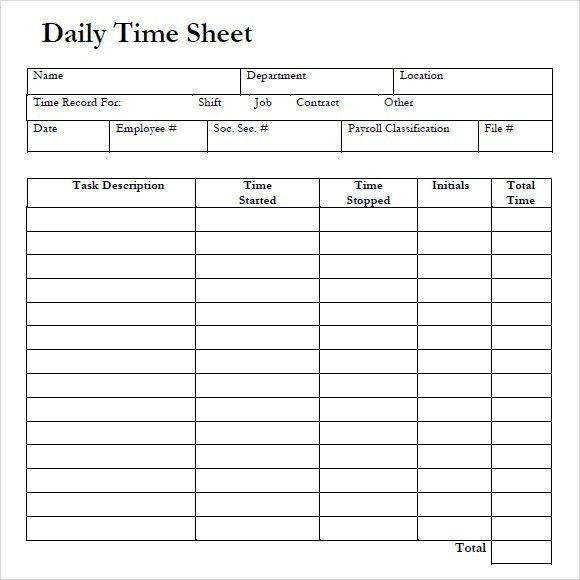 Free Timesheet Forms 39 Timesheet Templates Free Sample Example - sample weekly timesheet