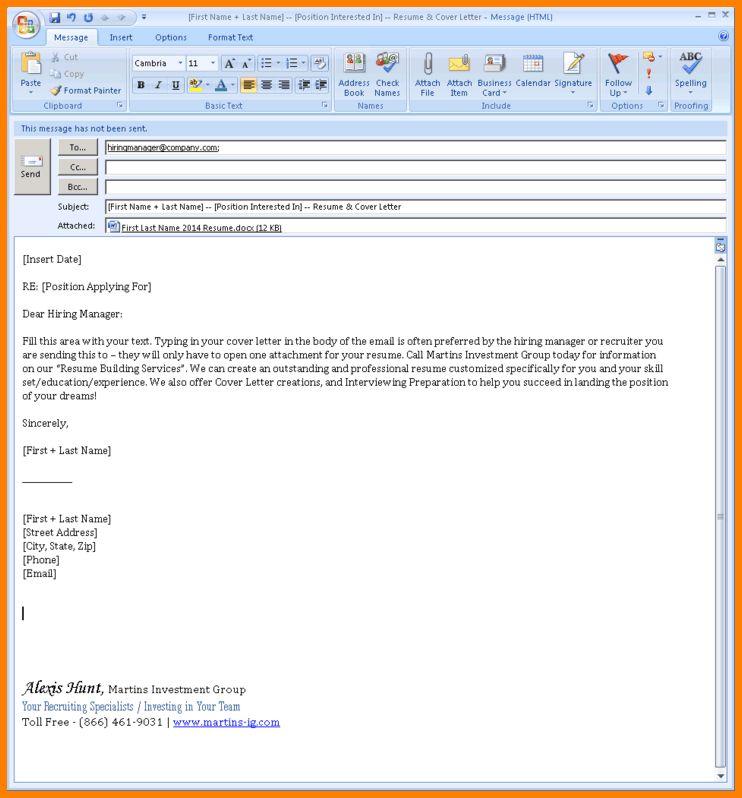97 Email Format For Sending Resume