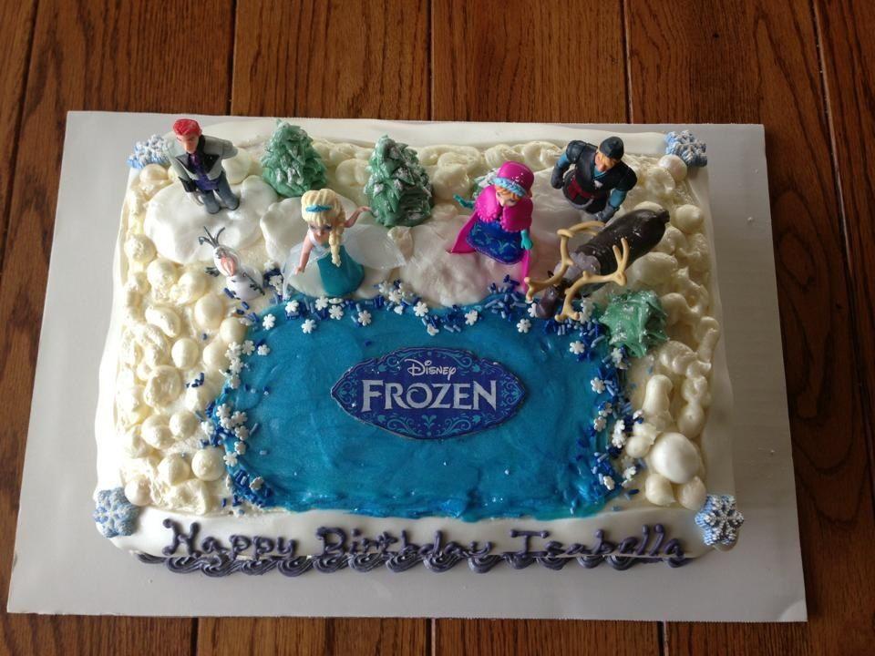 Disney S Frozen Cake I Had Wal Mart Create The Cake 3
