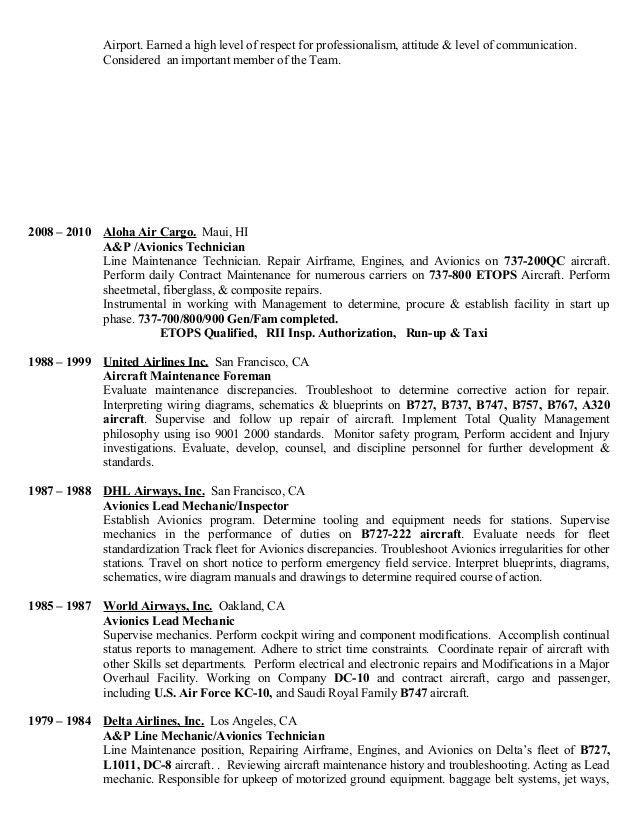 lead mechanic sample resume node2003-cvresumepaasprovider